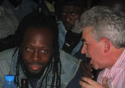Wyclef & I talking business - 2005 (it's all in the book!)