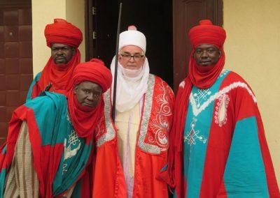 Ganuwan Daura with honour guard courtesy of Emir of Kano