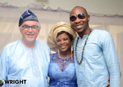 with Yetunde and Seun at Adara's naming ceremony