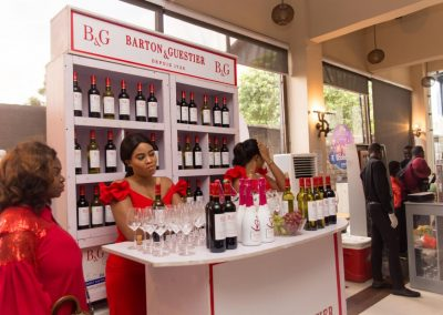 Brian Munro's bar stocked with fine wine - with thanks