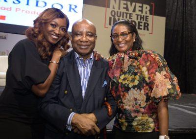 Sumi Smart-Cole with Kate & Femi Olayebi