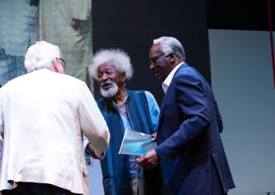 Stage handshake with Prof, Bankole and I